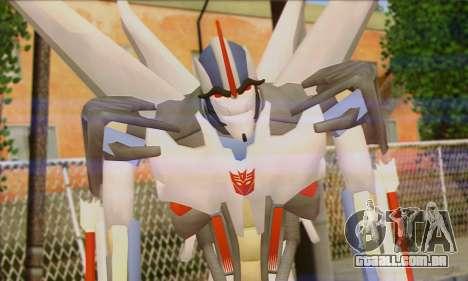 Starscrim from Transformers Prime para GTA San Andreas terceira tela