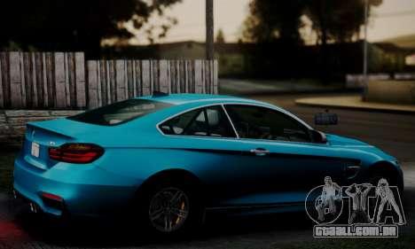 BMW M4 2014 para GTA San Andreas esquerda vista