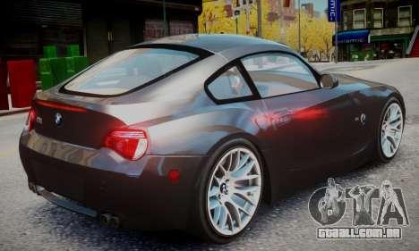 BMW Z4M para GTA 4 esquerda vista