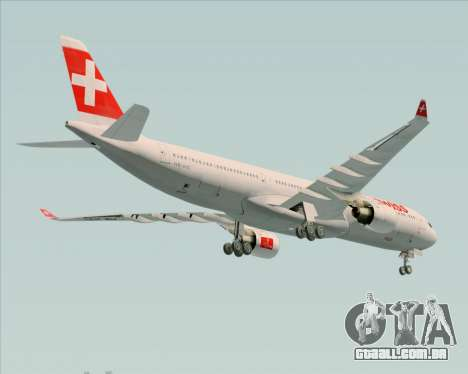 Airbus A330-300 Swiss International Air Lines para vista lateral GTA San Andreas