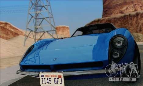 Grotti Stinger 1.0 (HQLM) para GTA San Andreas traseira esquerda vista