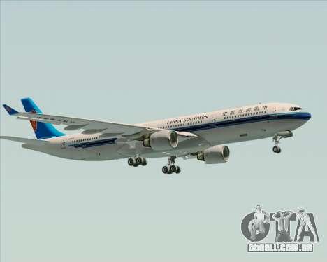 Airbus A330-300 China Southern Airlines para GTA San Andreas vista superior