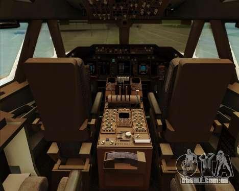 Boeing 747-8 Intercontinental United Airlines para GTA San Andreas interior