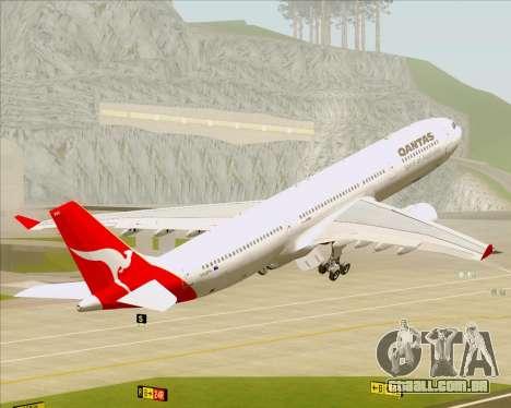 Airbus A330-300 Qantas para GTA San Andreas