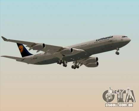 Airbus A340-313 Lufthansa para GTA San Andreas vista interior