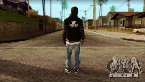 New Grove Street Family Skin v6 para GTA San Andreas segunda tela