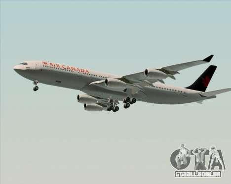 Airbus A340-313 Air Canada para o motor de GTA San Andreas