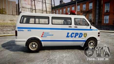 GTA V Bravado Youga LCPD para GTA 4 esquerda vista