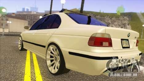 BMW M5 E39 2003 Stance para GTA San Andreas traseira esquerda vista