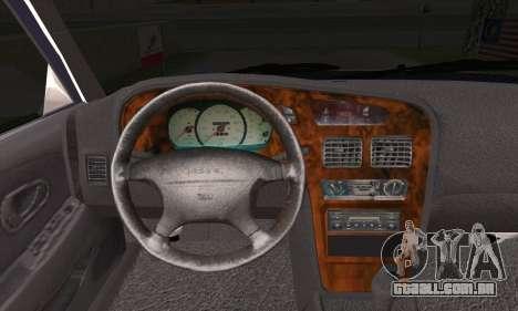 Proton Wira Official Malaysian Limousine para GTA San Andreas traseira esquerda vista
