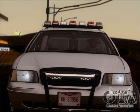 Ford Crown Victoria Tallmadge Battalion Chief 2 para GTA San Andreas vista traseira