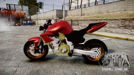 Yamaha FZ6 para GTA 4 esquerda vista
