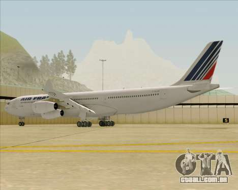 Airbus A340-313 Air France (Old Livery) para GTA San Andreas traseira esquerda vista