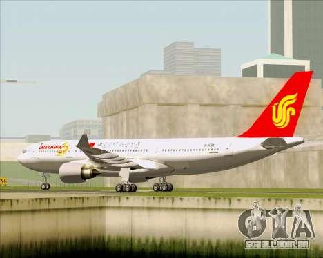 Airbus A330-200 Air China para GTA San Andreas vista direita