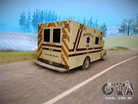 Pierce Commercial Grasonville Ambulance para GTA San Andreas vista traseira