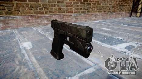 Pistola Glock de 20 kryptek typhon para GTA 4