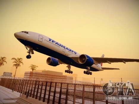 Boeing 777-212ER Transaero Airlines para GTA San Andreas
