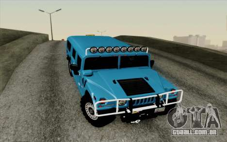Hummer H1 Alpha 2006 Road version para GTA San Andreas vista interior