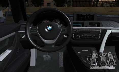 BMW M4 2014 para GTA San Andreas traseira esquerda vista