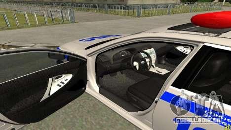 Toyota Camry ДПС para GTA San Andreas vista traseira