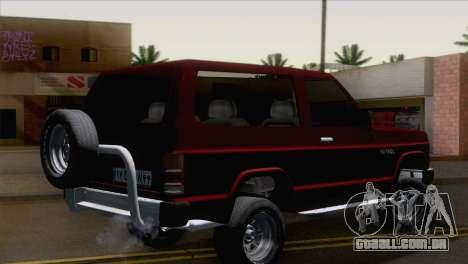 Nissan Patrol 2 Door para GTA San Andreas esquerda vista