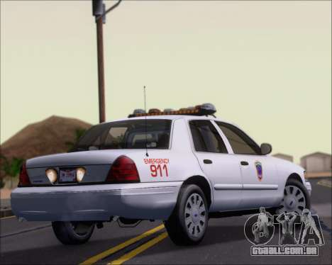 Ford Crown Victoria Tallmadge Battalion Chief 2 para GTA San Andreas vista direita