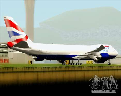 Boeing 747-8 Cargo British Airways World Cargo para o motor de GTA San Andreas