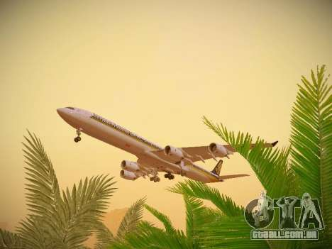 Airbus A340-600 Singapore Airlines para vista lateral GTA San Andreas