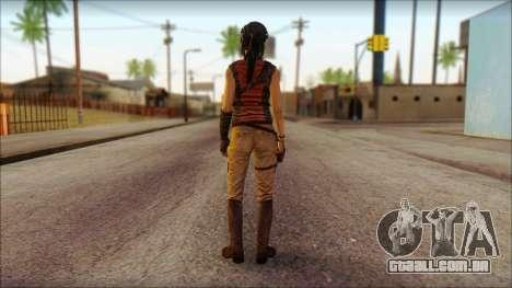 Tomb Raider Skin 5 2013 para GTA San Andreas segunda tela