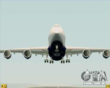 Boeing 747-8 Cargo Nippon Cargo Airlines para GTA San Andreas vista superior