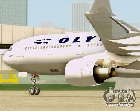 Airbus A330-300 Olympic Airlines para GTA San Andreas vista interior