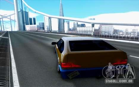 Blista By Next para GTA San Andreas traseira esquerda vista