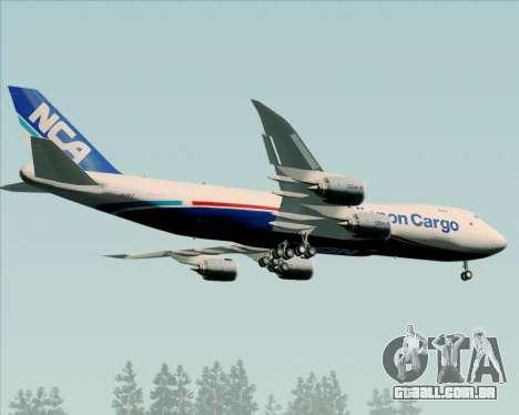 Boeing 747-8 Cargo Nippon Cargo Airlines para GTA San Andreas vista direita