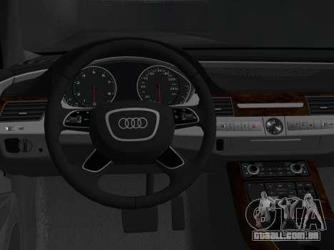 Audi A8 2010 W12 Rim3 para GTA Vice City vista traseira