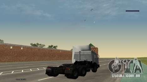 KamAZ-54115 para GTA San Andreas esquerda vista