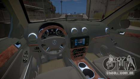 Mercedes-Benz GL450 AMG Police Interceptor 2013 para GTA 4 vista interior