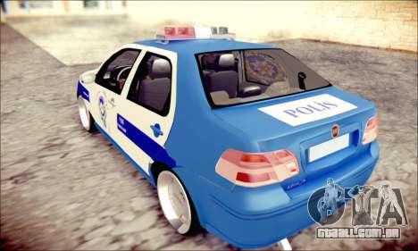 Fiat Albea Police Turkish para GTA San Andreas esquerda vista