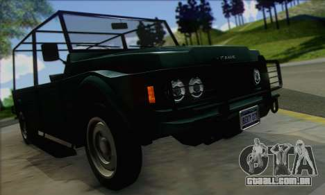 GTA V Canis Kalahari (IVF) para GTA San Andreas vista direita