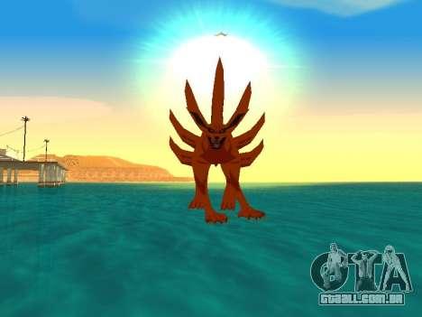 A Kyubi Transformação para GTA San Andreas quinto tela