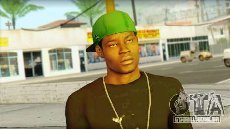 New Grove Street Family Skin v3 para GTA San Andreas