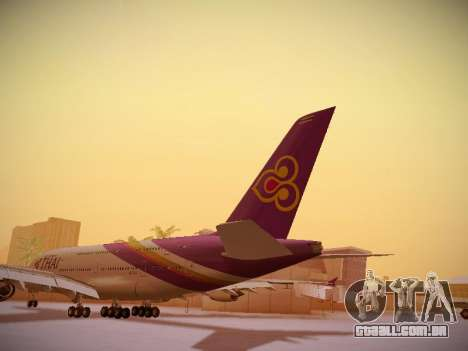 Airbus A380-800 Thai Airways International para GTA San Andreas traseira esquerda vista