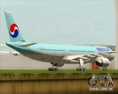 Airbus A330-300 Korean Air para GTA San Andreas vista direita