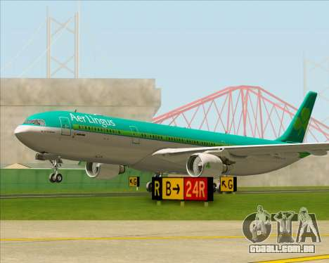 Airbus A330-300 Aer Lingus para GTA San Andreas vista superior