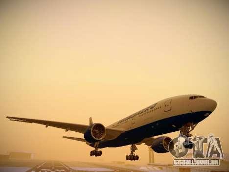 Boeing 777-212ER Transaero Airlines para GTA San Andreas esquerda vista