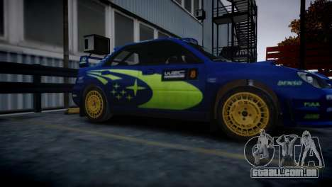 Subaru Impreza STI Group N Rally Edition para GTA 4 traseira esquerda vista