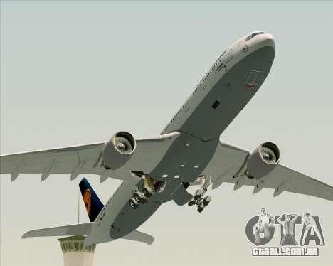 Airbus A330-300 Lufthansa para GTA San Andreas vista inferior