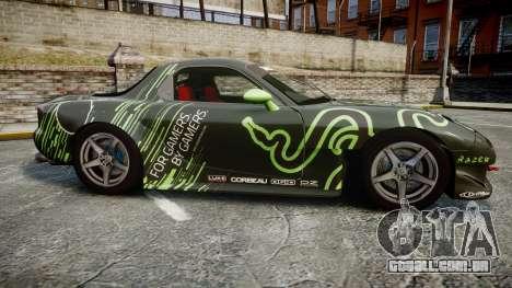 Mazda RX-7 Razer para GTA 4 esquerda vista