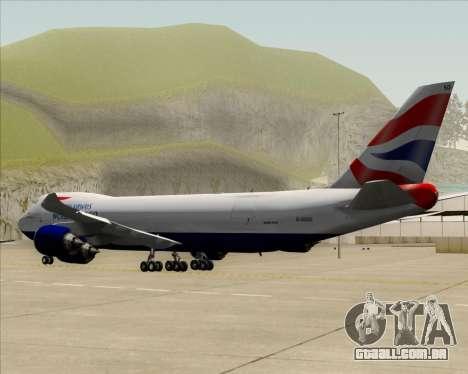 Boeing 747-8 Cargo British Airways World Cargo para GTA San Andreas vista superior