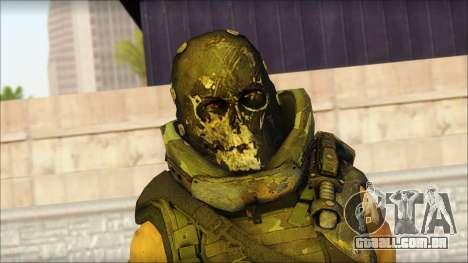 Claude Resurrection Skin from COD 5 v2 para GTA San Andreas terceira tela