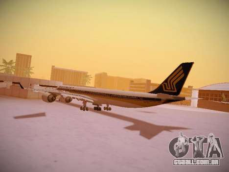Airbus A340-600 Singapore Airlines para GTA San Andreas vista inferior